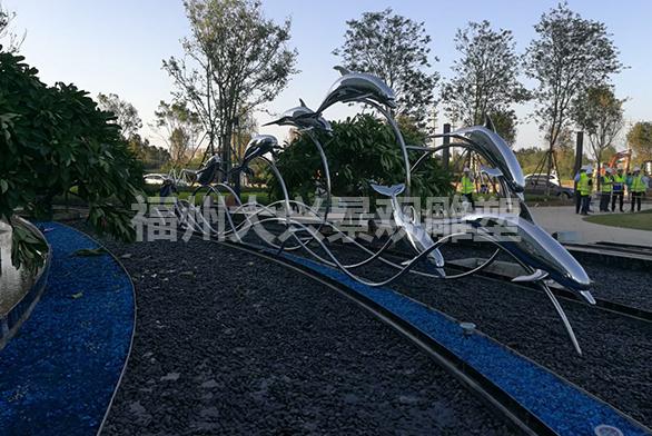 长乐市金茂滨海未来城海琢不锈钢雕塑