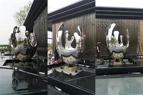 宁德中建中央公园雕塑水景