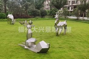 福州融侨观湖小区不锈钢雕塑