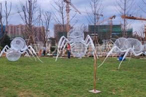 龙岩上杭融侨观邸公园展示区大型蚂蚁不锈钢雕塑