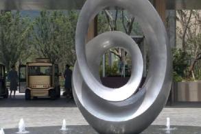 小区不锈钢景观雕塑