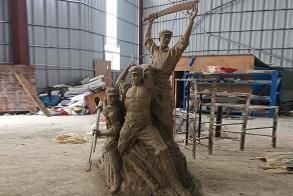 武夷山红军博物馆人物雕塑
